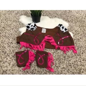 Other - Unbranded Girl Top Vest Cowgirl Costume Sz O/S